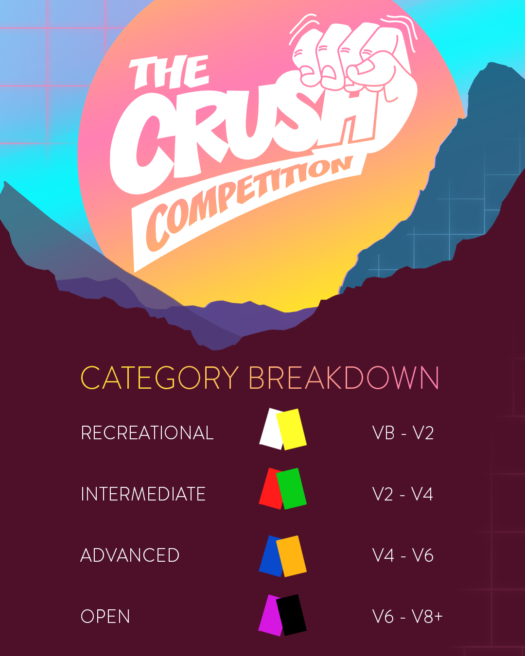 Crush Comp Category Breakdown